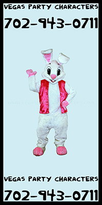 Easter Bunny Mascot Character Costume